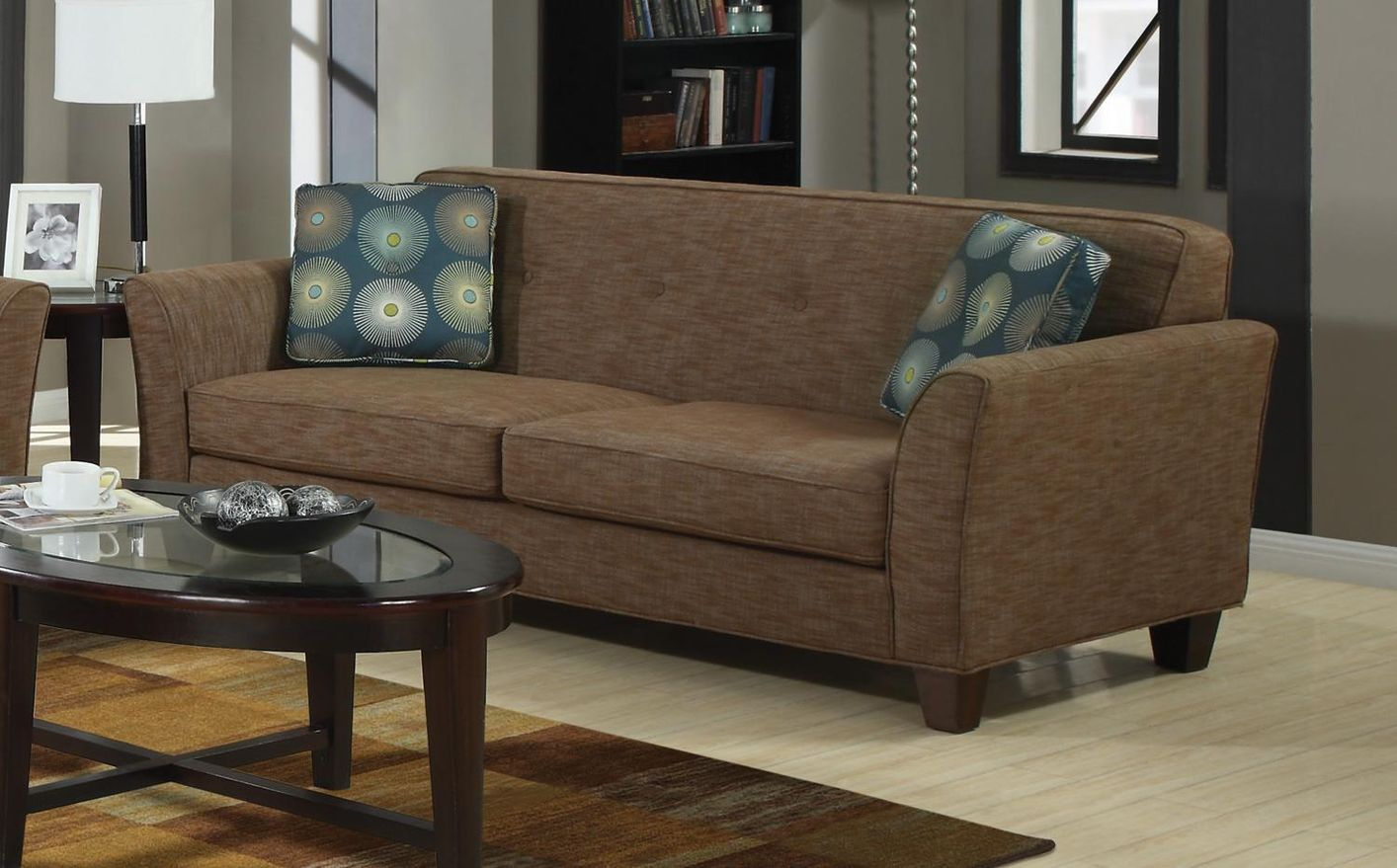 Lilian Brown Tweed Sofa Steal A Sofa Furniture Outlet