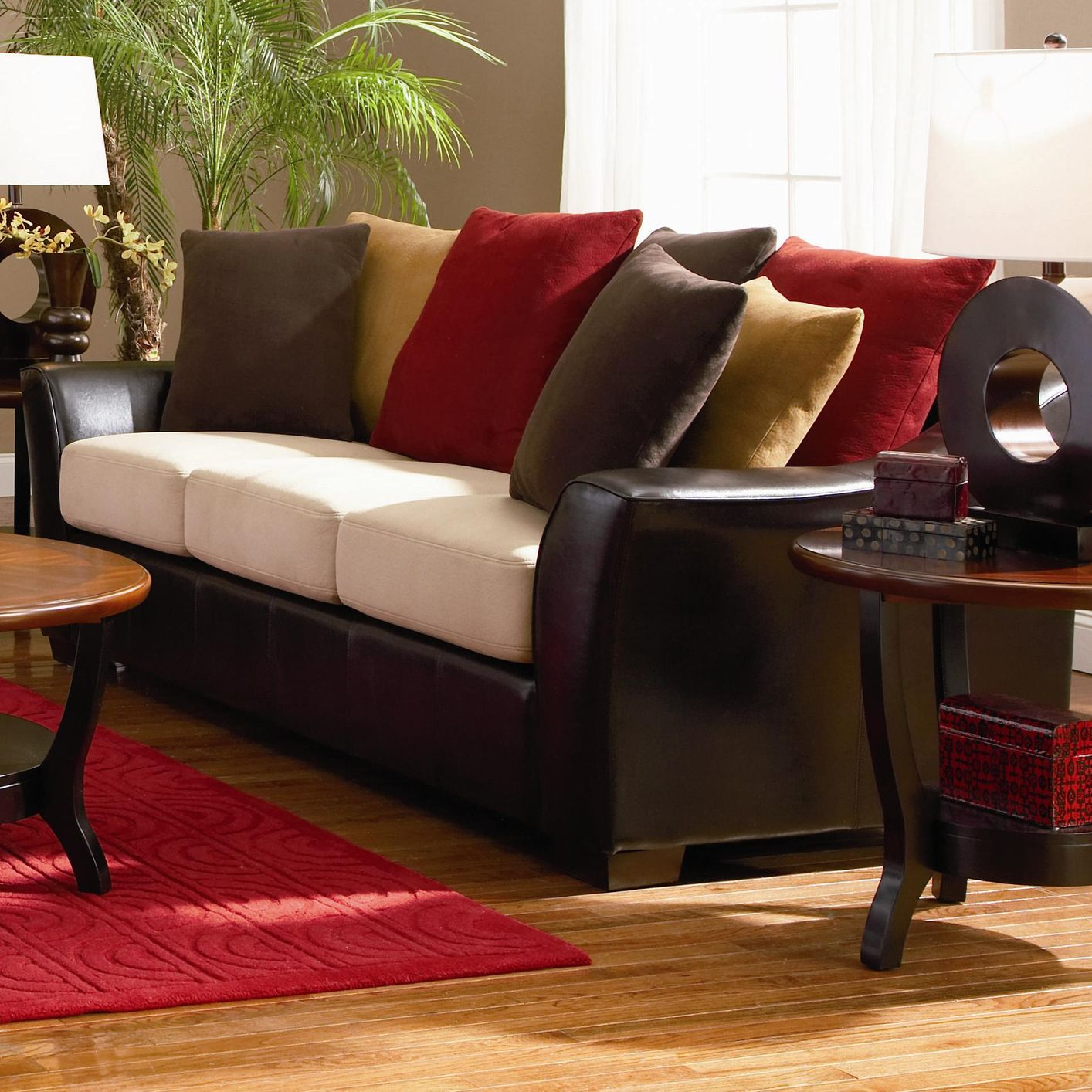 Lily Beige Microfiber Sofa Steal A Sofa Furniture Outlet