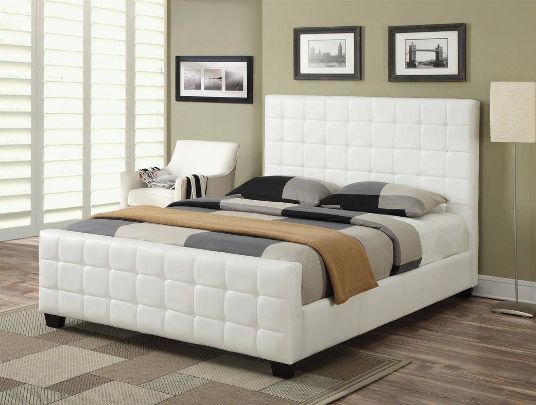 White Wood Eastern King Size Bed