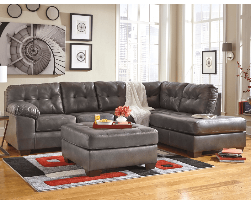 Alliston Gray Sectional By Ashley 20102 Dallas Fort Worth