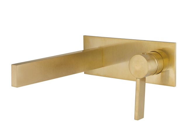 Wall Mount Bathroom Faucet Caso Brushed Gold