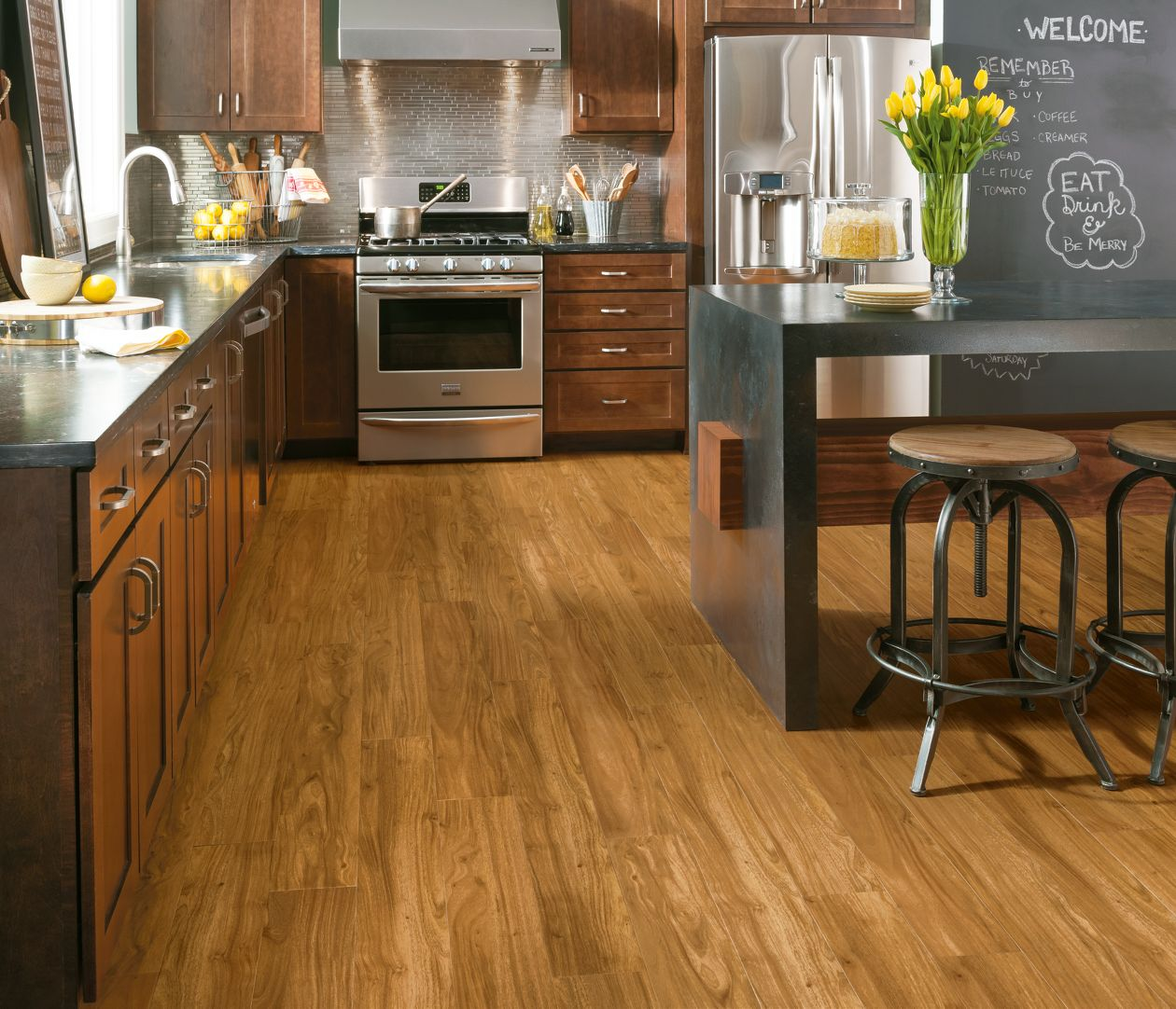 Armstrong Luxe Plank Flooring In Kitchen