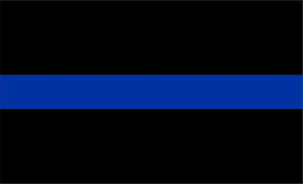 Thin Blue Line Police Flag 3x5 Uncommon USA Police Flags