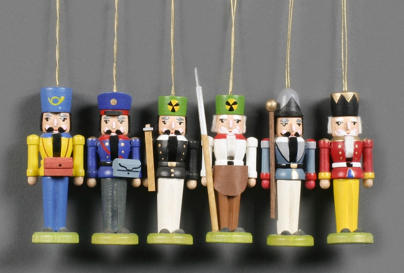 Handcrafted German Gifts Colorful Mini Nutcracker Tree