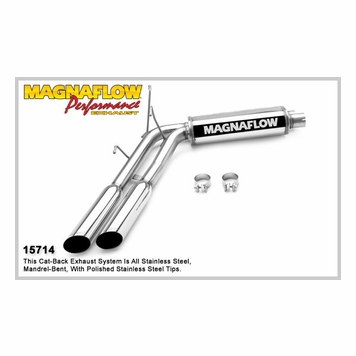1999 04 f 150 5 4l supercharged lightning magnaflow dual same side exit in front of tire stainless cat back system performance exhaust