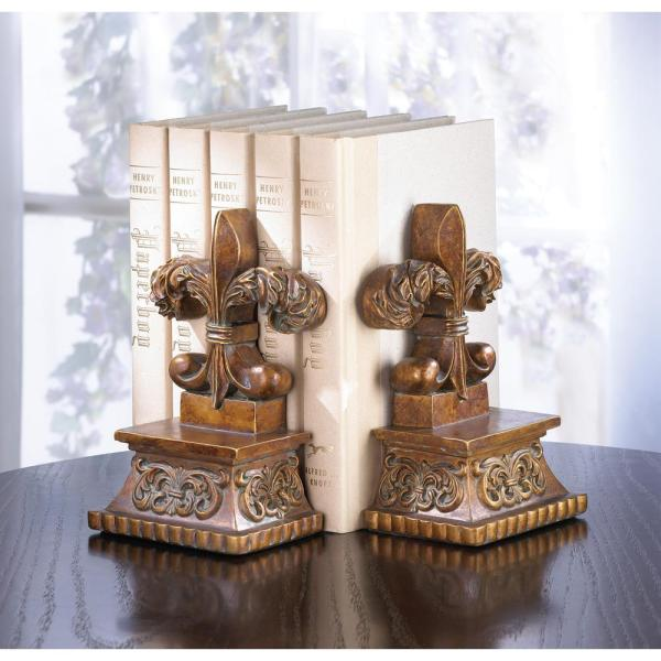 Fleur De Lis Bookends Wholesale at Koehler Home Decor Fleur De Lis Bookends Fleur De Lis Bookends