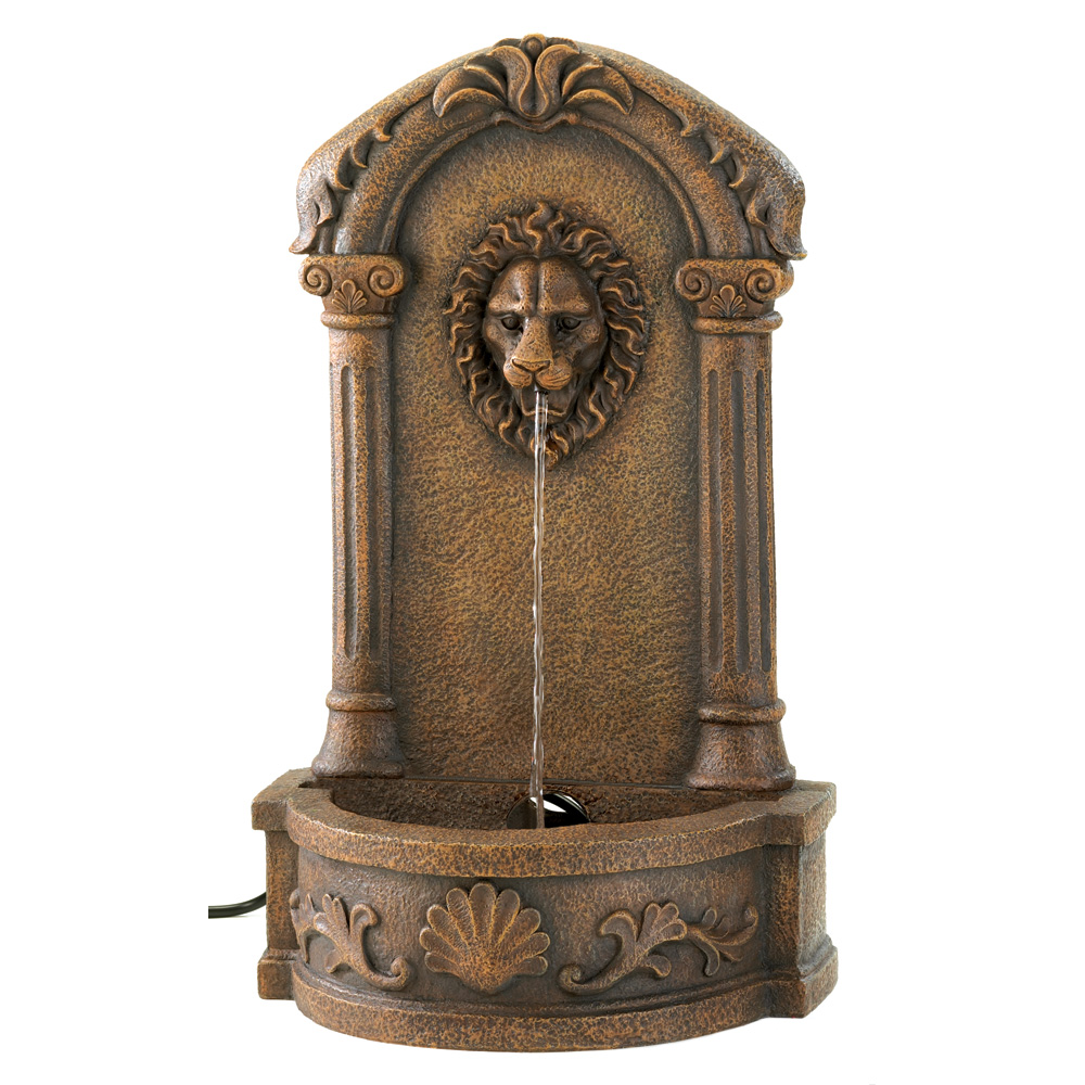 Lions Head Courtyard Fountain Wholesale At Koehler Home Decor