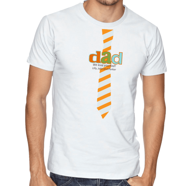 Father's Day Tie Dad Personalized Custom T-Shirt Tee Shirt ...