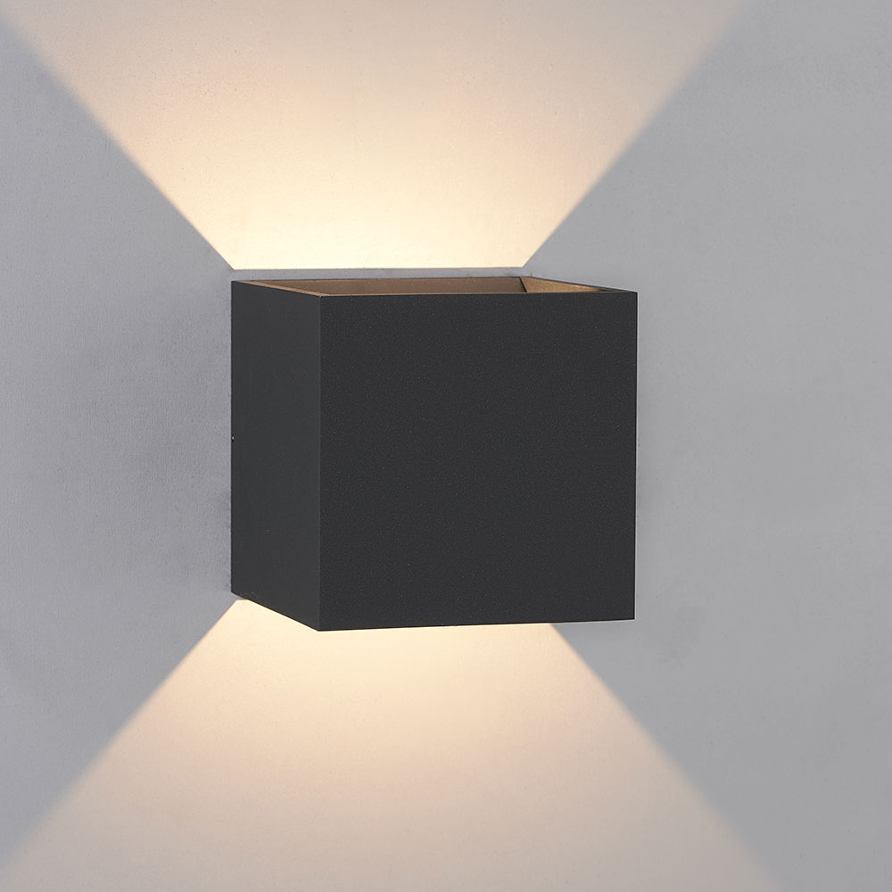 Bruck 105040BK QB Contemporary Black LED Outdoor Wall ... on Contemporary Wall Sconces Lighting id=81460
