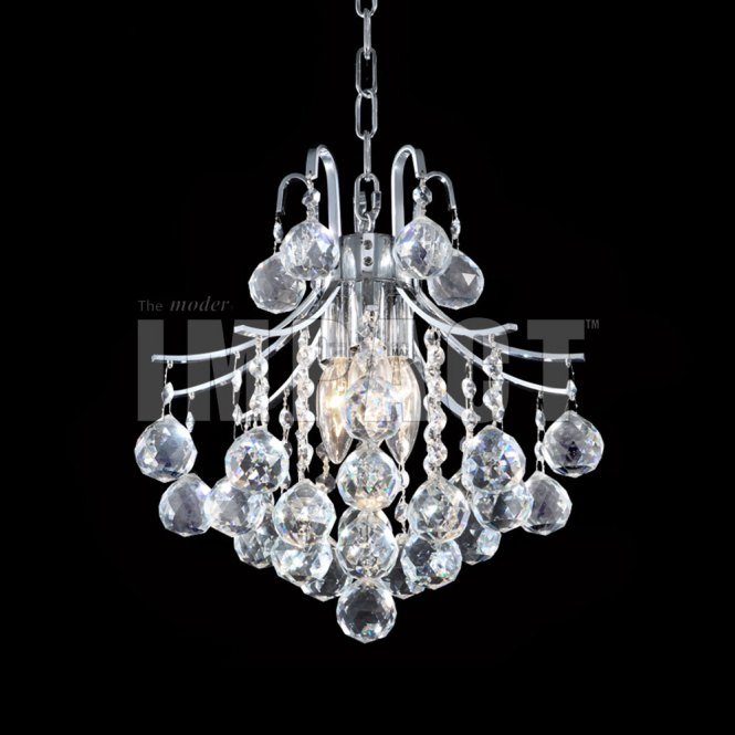 James Moder 40313s22 Cascade Crystal Silver Mini Hanging Chandelier Ceiling Lighting Loading Zoom
