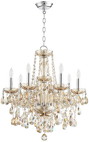 Quorum 630 8 614 Bohemian Katerina Traditional Chrome Mini Hanging Chandelier Loading Zoom