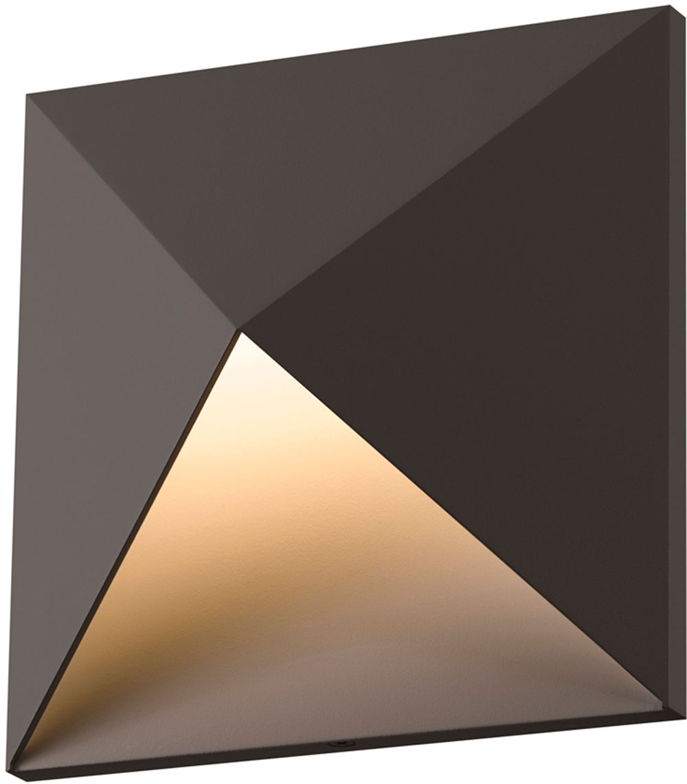 Sonneman 2714.72.WL Prism Contemporary Textured Bronze LED ... on Led Interior Wall Sconces id=90374