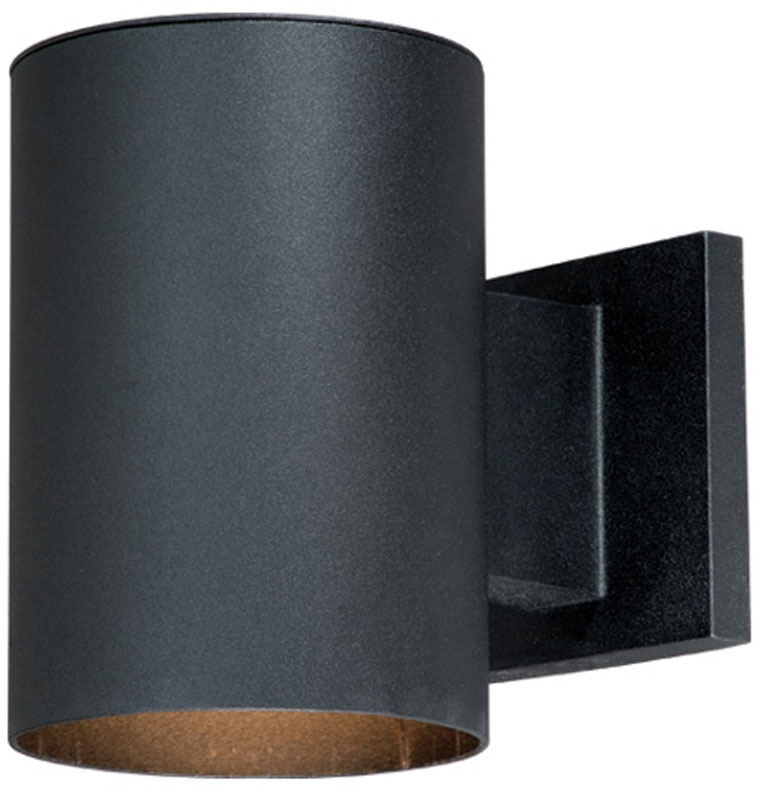 Vaxcel CO-OWD050TB Chiasso Modern Textured Black Finish 7 ... on Contemporary Outdoor Wall Sconces id=51594