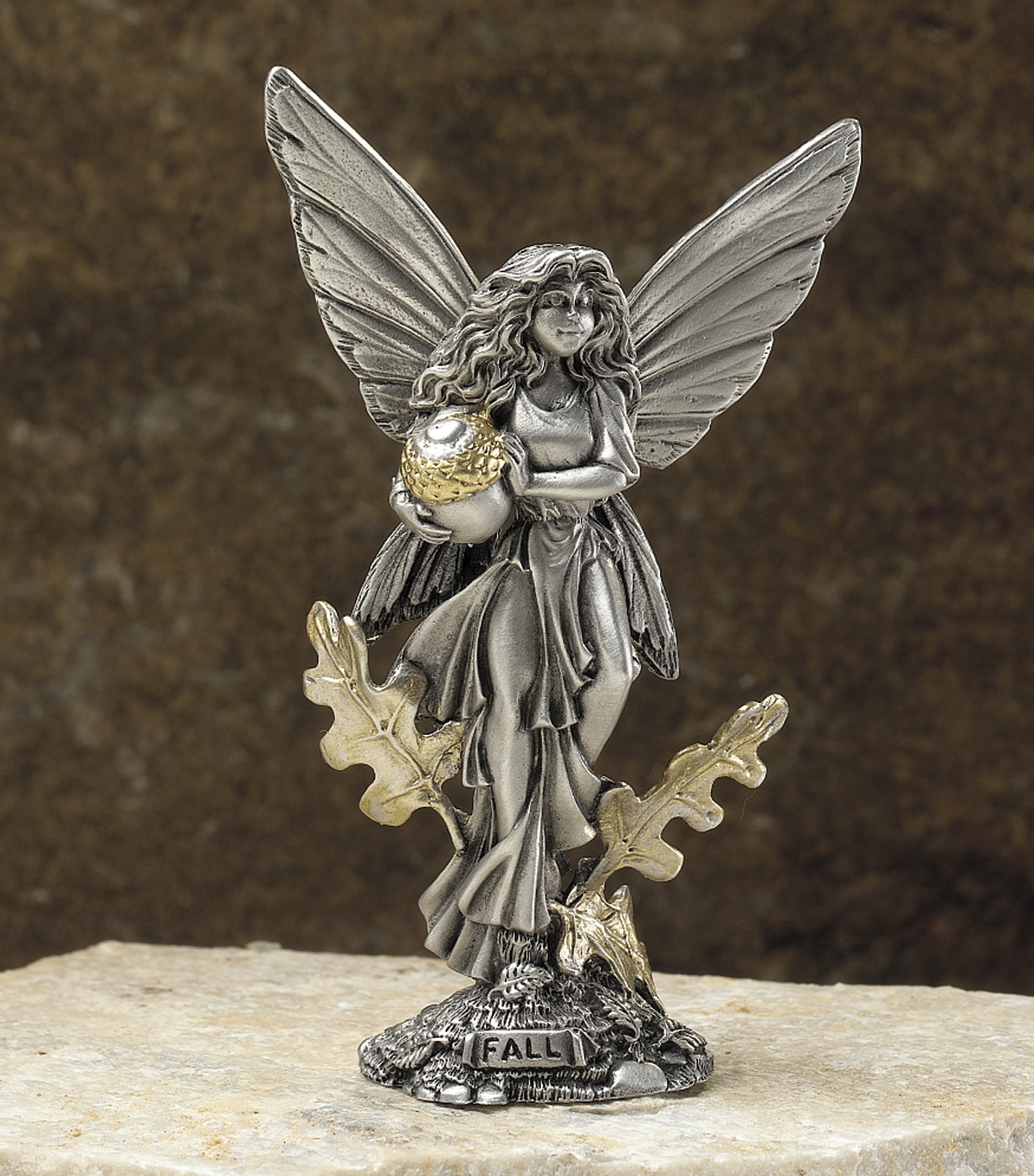 Fall Fairy Pewter Fairy Figurine By Rawcliffe