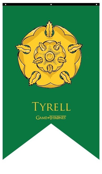 House Tyrell Banner Flags amp Banners Game of Thrones