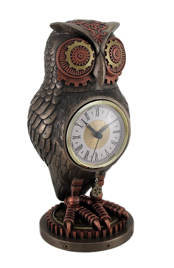 Steampunk Owl Clock Steampunk Housewares Amp Gifts