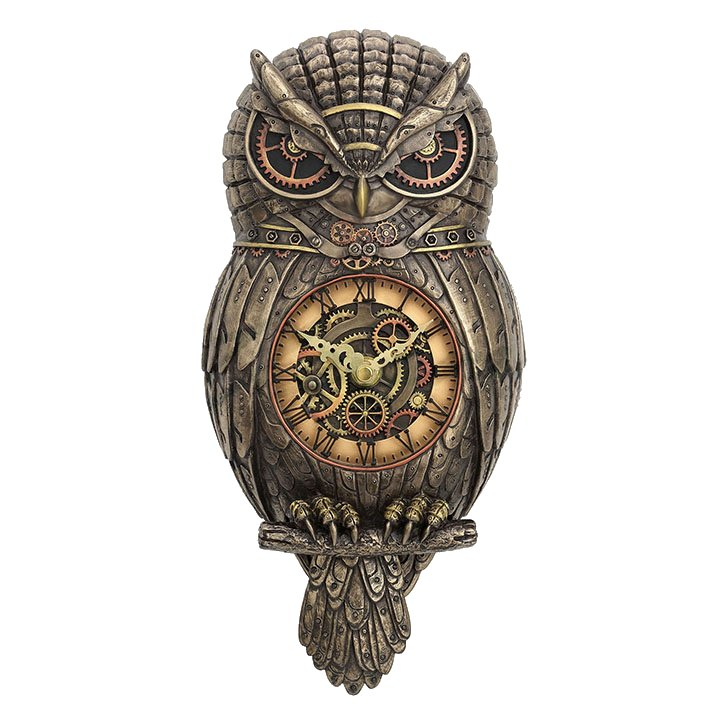 Owl Wall Clock Steampunk Housewares Amp Gifts