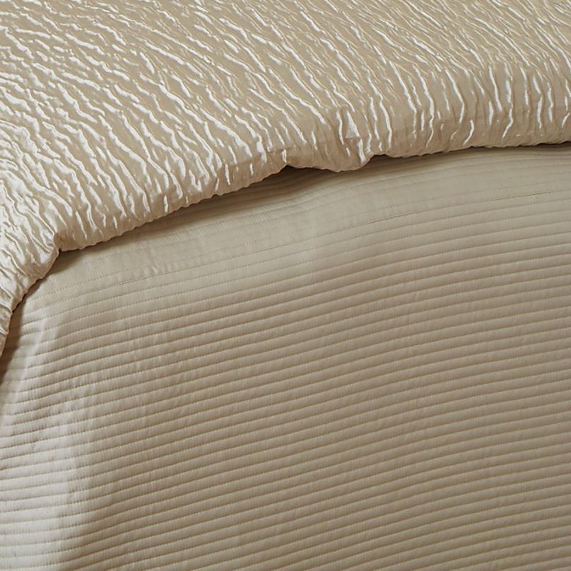 Linea Coverlet Set In Ivory Art Of Home By Ann Gish
