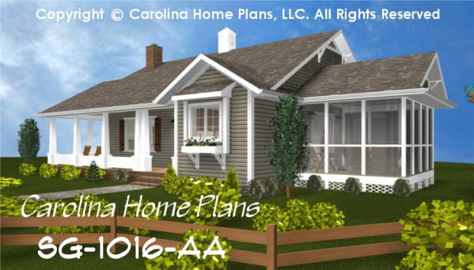 Small Cottage Style House Plan SG 1016 Sq Ft   Affordable Small Home     CHP SG 1016 AA br   Small Cottage Style House Plan