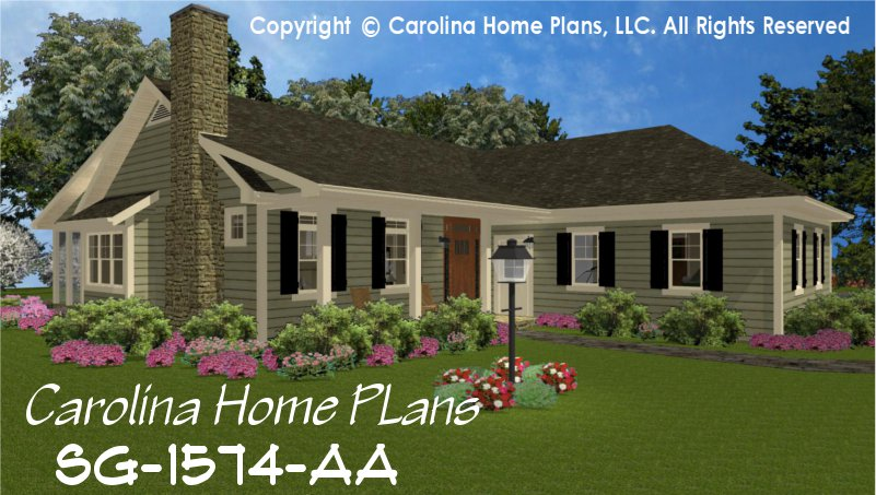 Small Country Style House Plan SG-1574 Sq Ft