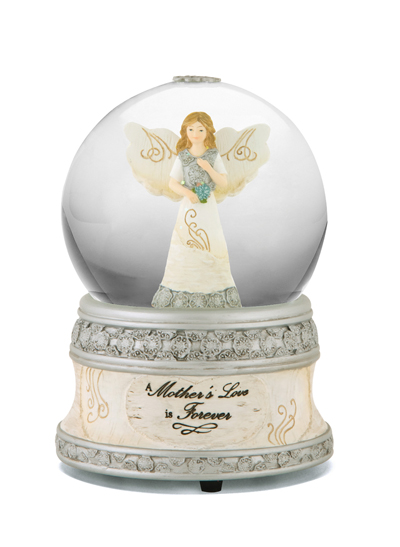 Memorial Music Water Globe A Mothers Love Is Forever
