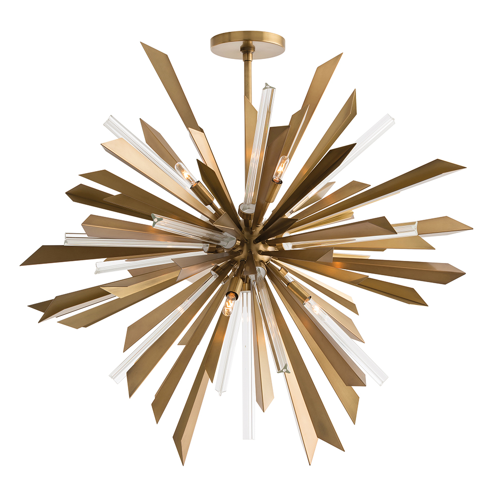 Astoria Grand Starburst Chandelier Antique Brass