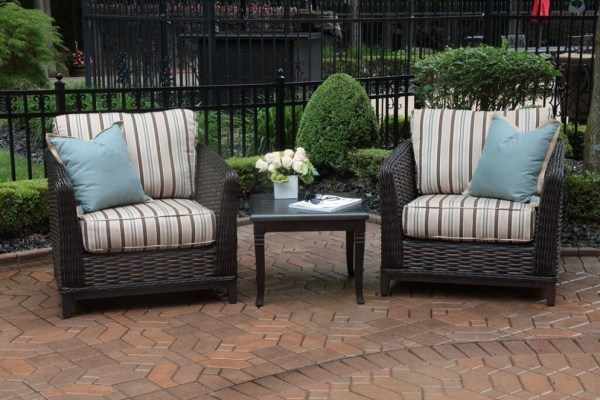 luxury outdoor patio furniture Cassini Collection All Weather Wicker Luxury Patio