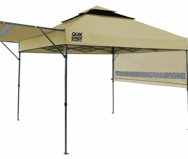 Quik Shade Summit Sx X Instant Canopy With Adjustable Half Awnings