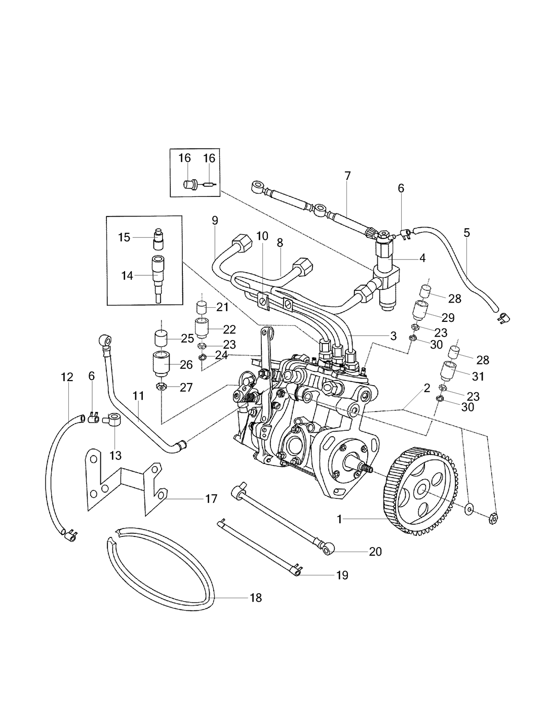 Fuel System Parts For Es 25 Mahindra Tractor