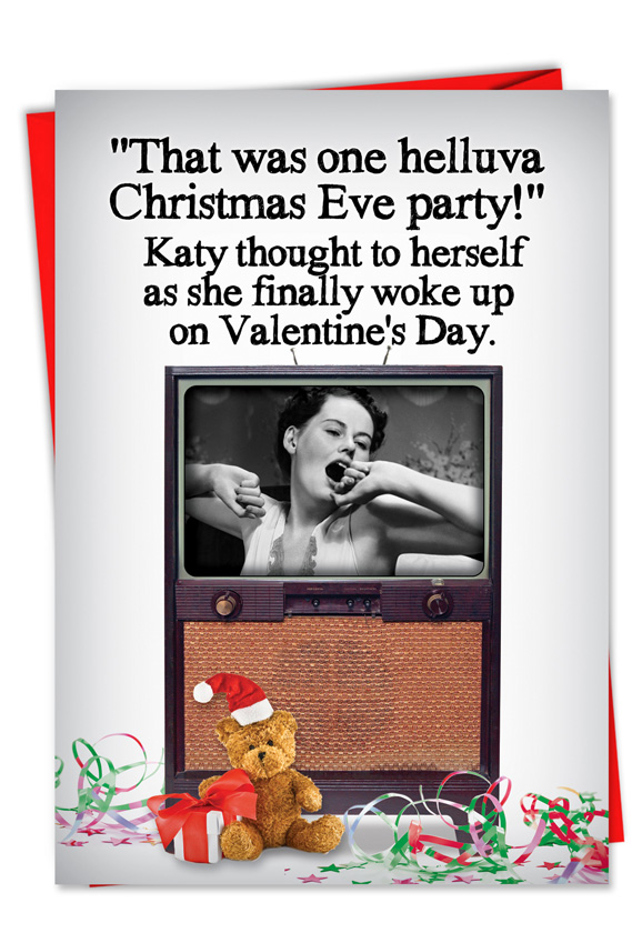 Christmas Eve Party Adult Funny Greeting CardNobleworks