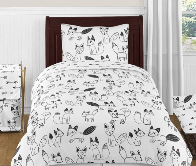 Arrow Print Childrens Bathroom Fabric Bath Shower Curtain For Sweet Jojo Black And White Fox Collection Only