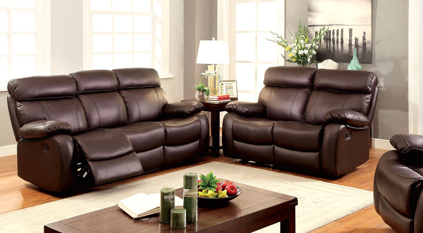 And Leather Set Sofa Brown Loveseat