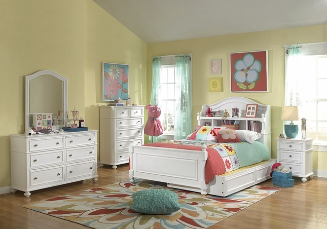 youth natural white bookcase full bed