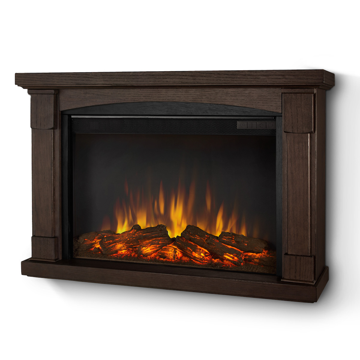 Real Flame Brighton Slim Line Wall Hung Electric Fireplace