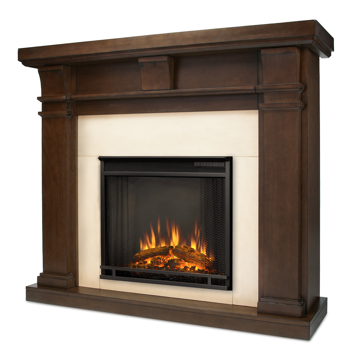 Real Flame Porter Electric Fireplace In Vintage Black Maple