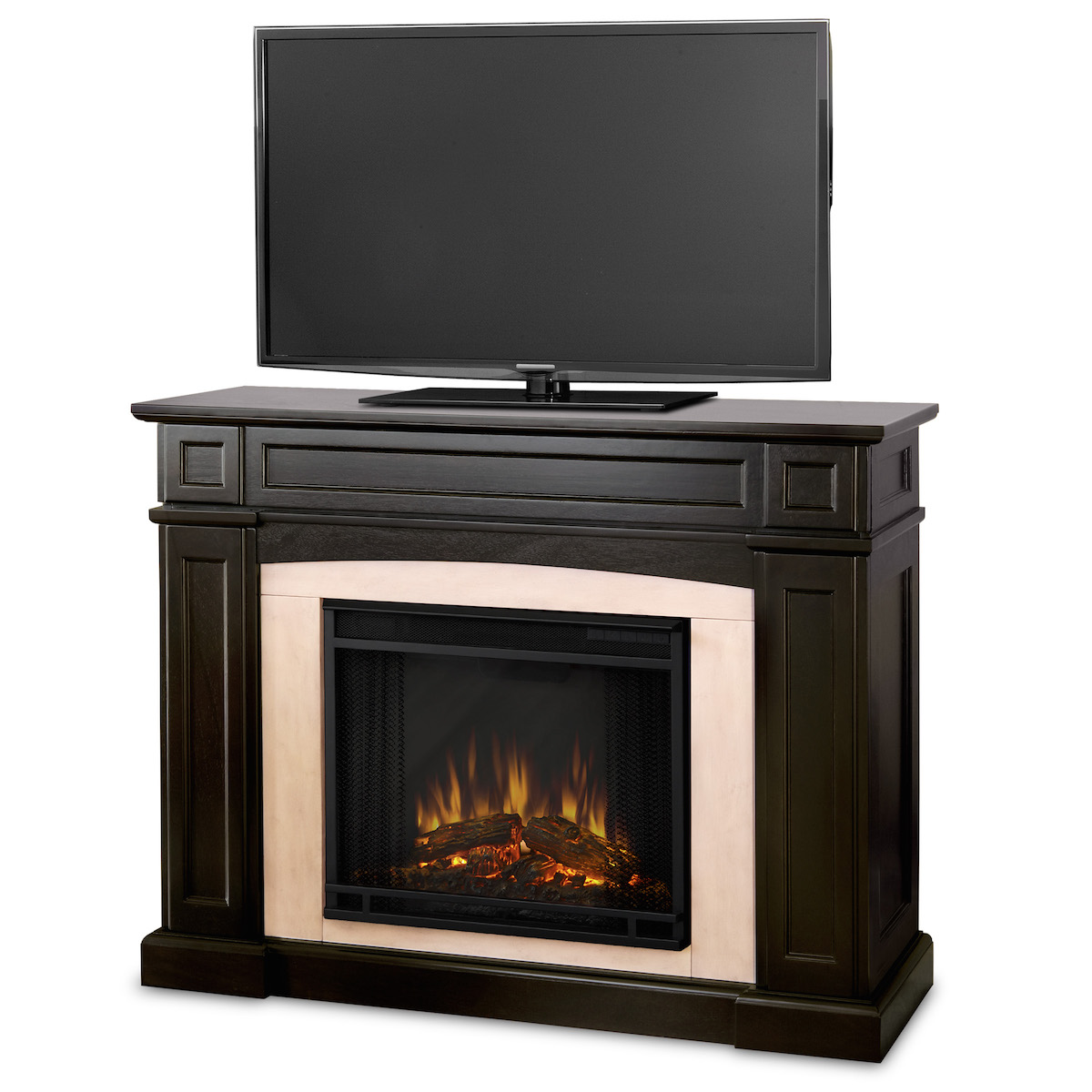 Real Flame Rutherford Electric Fireplace In Dark Walnut
