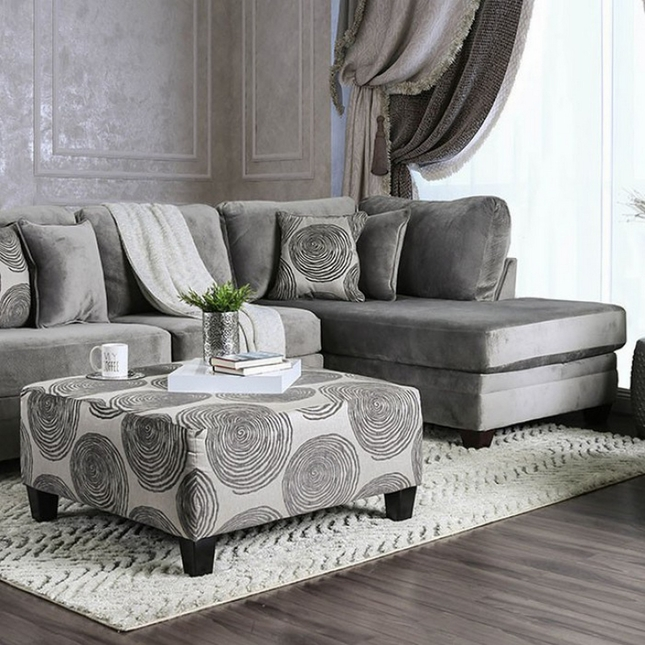 rosalinda transitional grey microfiber