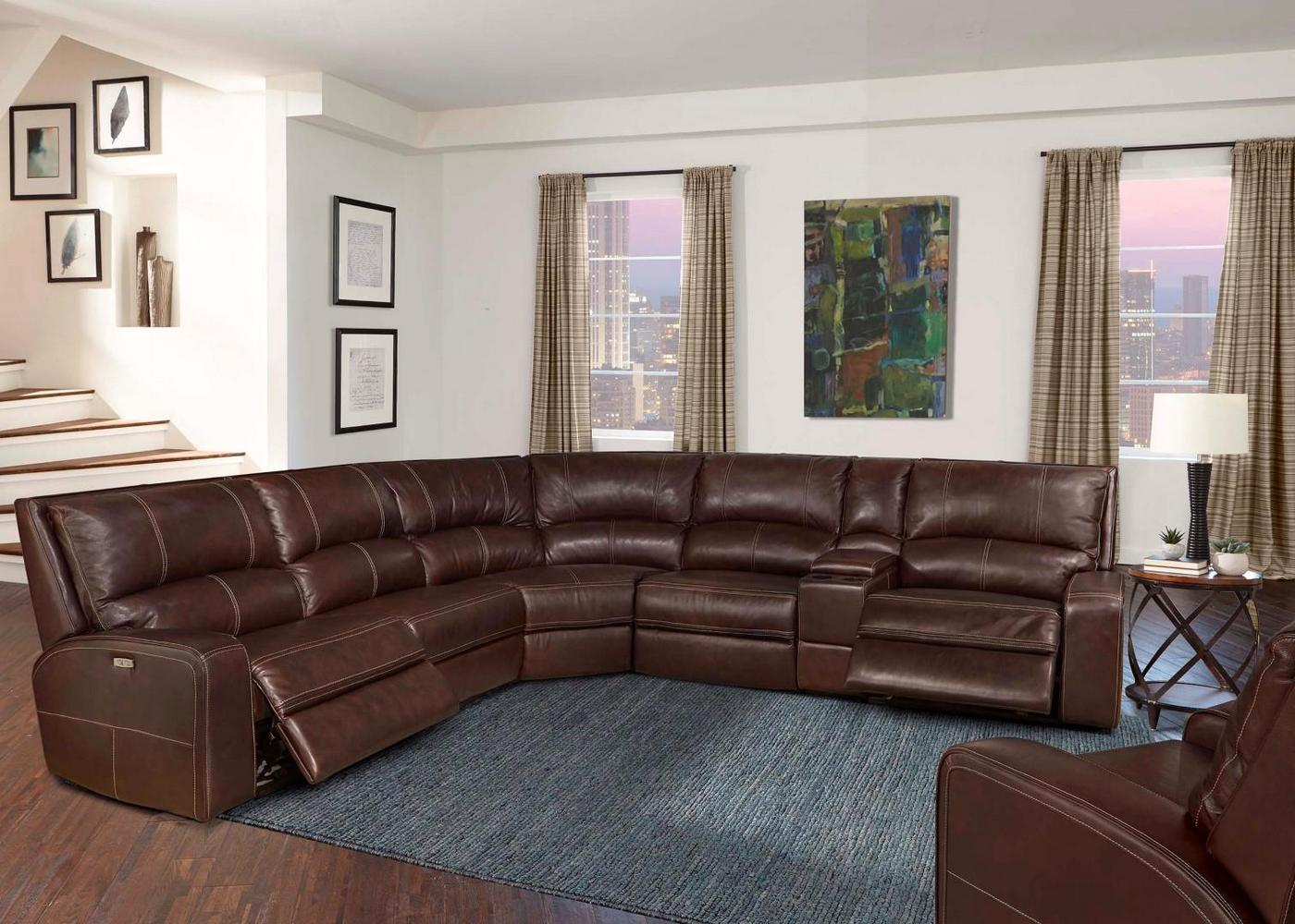 Details About Swift Clydesdale Modular Leather Sectional Sofa Power Headrest Armless Recliner