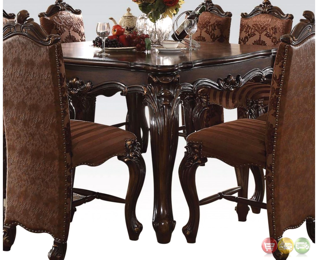 Versailles Formal Cherry Oak 56 Square Counter Height Dining Table