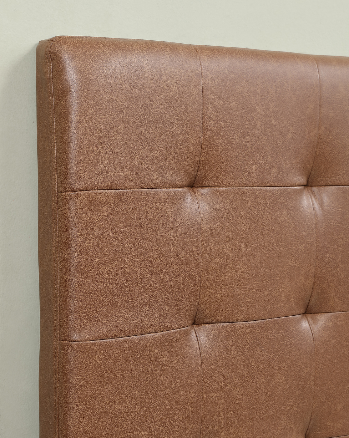 Wilburton Faux Leather Biscuit Tufted Full/Queen Headboard ... on Cognac Leather Headboard  id=72671