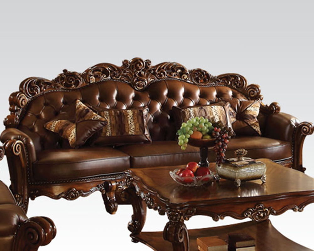 Traditional Oversized Sofa Vendome Cherry By Acme