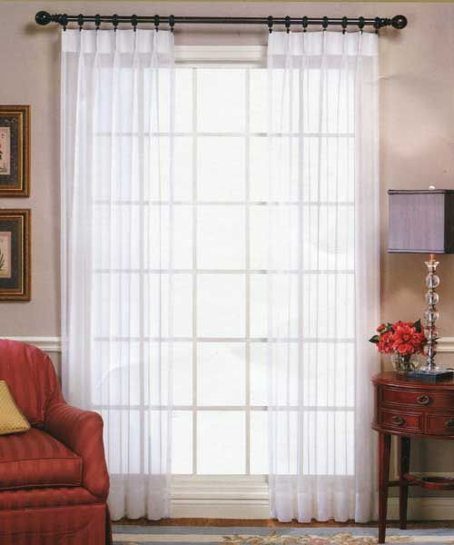Pinch Pleated Sheers Amp Drapery Fire Retardant The Curtain Shop