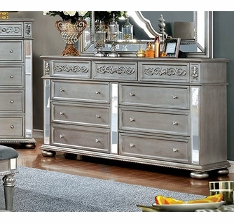 azha silver solid wood dresser by furniture of america