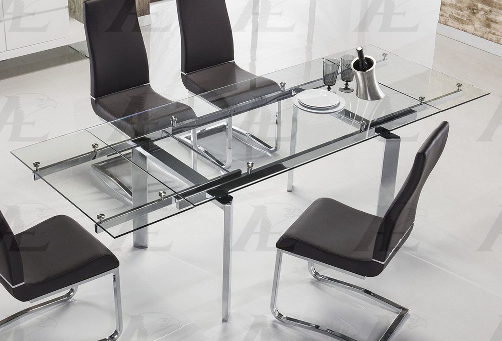 liliya clear dining table oversized by american eagle furniture