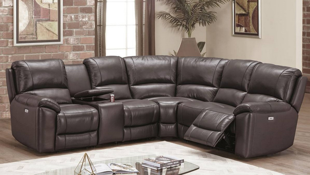 marleen 3 pc espresso faux leather power recliner sectional by poundex