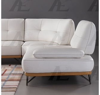 amanda 3 pc white leather sectional sofa by american eagle furniture