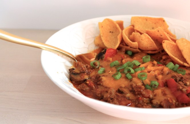 beef and roasted veggie chili