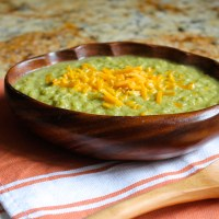 broccoli pesto soup