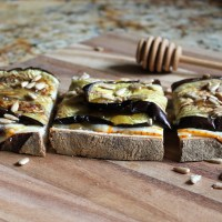 roasted eggplant tartines