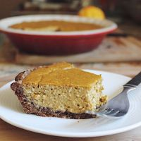 date sweetened pumpkin cheesecake